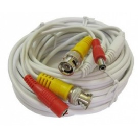 Provision-ISR Cable Coaxial para Video, Macho - Macho, 20 Metros, Blanco