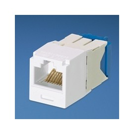 Panduit Jack Cat6a, RJ-45, Blanco