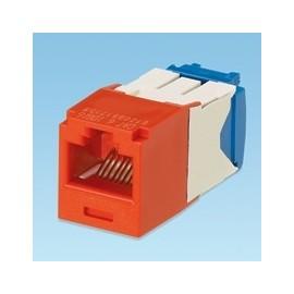 Panduit Módulo Mini-Com Categoría 6A UTP, RJ-45, 8 Posiciones, 8 Cables