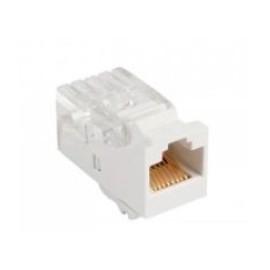 Enson Jack de Red Cat5e, RJ-45, Blanco
