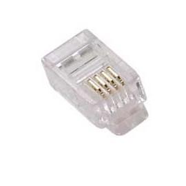 X-Case Plug RJ-11, Transparente, 100 Piezas