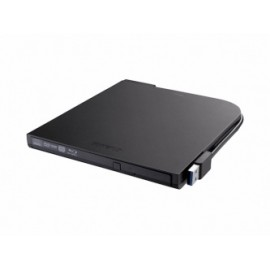 Buffalo BRXL-PT6U2VB, Grabador de Blu-ray Portátil, BD-R 6x DVDR 8x  CD-RW 16x, Externo, Negro