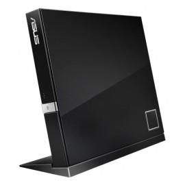 ASUS SBW-06D2X-U, Quemador de Blu-ray, BD-R 6x / BD-ROM 6x, USB 2.0, Externo, Negro