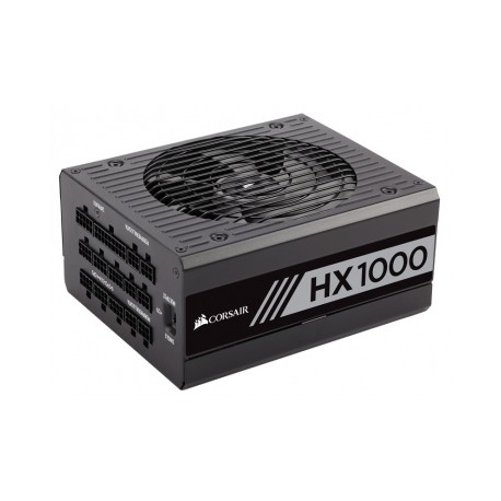 Fuente de Poder Corsair HX1000 80 PLUS Platinum, 20 4 pin ATX, 135mm, 1000W