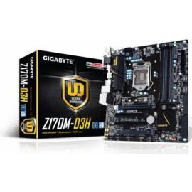 Tarjeta Madre Gigabyte micro ATX GA-Z170M-D3H, S-1151, Intel Z170, HDMi, USB 2.0 3.0 3.1, 64GB DDR4, para Intel