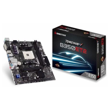 Tarjeta Madre Biostar micro ATX B350ET2, S-AM4, AMD B350, USB 3.0, 32GB DDR4, para AMD