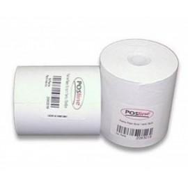 POSline Papel Autocopia RP2C, 2 Tantos, 76mm x 70mm, Blanco/Amarillo - Caja con 50 Rollos