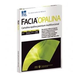 Copamex Papel Facia Opalina Cartulina 225g/m², 100 Hojas de Tamaño Carta, Blanco