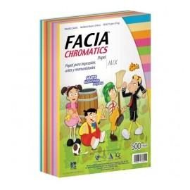 Copamex Papel Facia Chromatics 75g/m², 500 Hojas de Tamaño Carta, 10 Colores