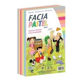 Copamex Papel Facia Pastel 75g/m², 500 Hojas de Tamaño Carta, 10 Colores