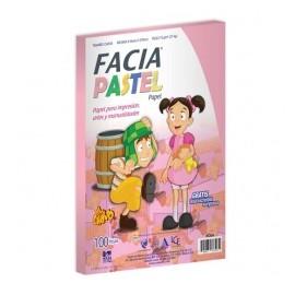 Copamex Papel Facia Pastel 75g/m², 100 Hojas de Tamaño Carta, Color Cereza/Rosa