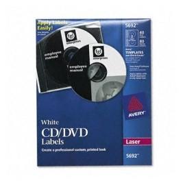Avery Etiquetas para CD/DVD 5692, 40 Etiquetas