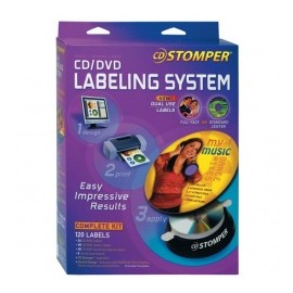 Avery Stomper Pro kit para CD/DVD 98107, 24 Etiquetas, Blanco