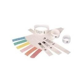 Zebra Z-Band Direct, Brazaletes Térmicos Directos Adhesivos Blancos para HC100, 1'' x 11'', 6 x 200 Piezas
