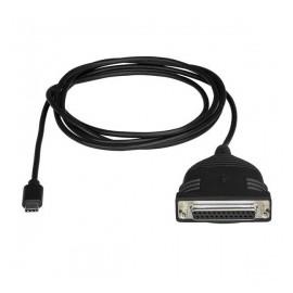 StarTech.com Cable Adaptador de Impresora USB Tipo C Macho - Paralelo DB25 Hembra, 1.83 Metros, Negro