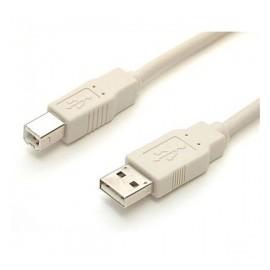 Startech.com Cable USB 2.0 para Impresora, USB A Macho - USB B Macho, 1.8 Metros, Beige