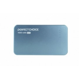 Cargador Portátil Perfect Choice Power Bank PC-240754, 4000mAh, Azul