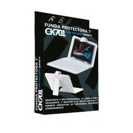 Necnon Funda con Teclado CK1001 para Tablet 10, Blanco
