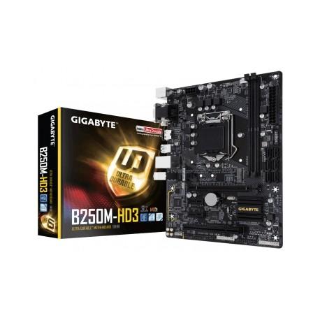 Tarjeta Madre Gigabyte micro ATX GA-B250M-HD3, S-1151, Intel B250, USB 3.0, 64GB DDR4, para Intel