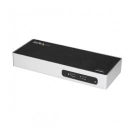 Startech.com Docking Station USB 3.0 con Salidas Dobles de Video, 6x USB 3.0, Negro/Plata