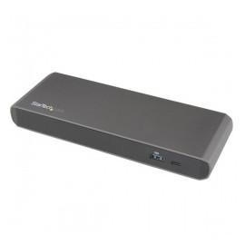 StarTech.com Docking Station Thunderbolt 3 con Salidas Dobles de Video 4K, 2x USB 3.0, Negro/Gris