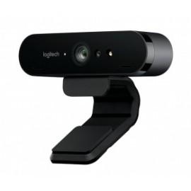 Logitech Webcam con Micrófono BRIO, 4K UltraHD, 4096 x 2160 Pixeles, USB 3.0, Negro