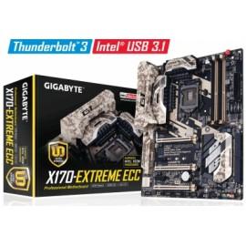 Tarjeta Madre Gigabyte ATX GA-X170-EXTREME ECC, S-1151, Intel C236, HDMI, USB 3.1, 64GB DDR4, para Intel