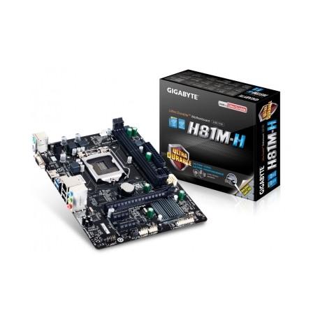 Tarjeta Madre Gigabyte micro ATX GA-H81M-H (rev. 1.0), S-1150, Intel H81, HDMI, USB 2.0/3.0, 16GB DDR3, para Intel