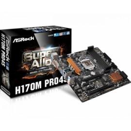 Tarjeta Madre ASRock micro ATX H170M PRO4S, S-1151, Intel H170, HDMI, USB 3.0, 64GB DDR4, para Intel