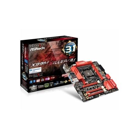 Tarjeta Madre ASRock micro ATX Fatal1ty X99M Killer/3.1, S-2011v3, Intel X99, 64GB DDR4, para Intel