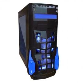 Gabinete Eagle Warrior FS-2 con Ventana LED Azul, Torre, ATX