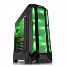 Gabinete Eagle Warrior RobotQ con Ventana LED Verde, Tower, ATX