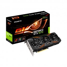 Tarjeta de Video Gigabyte NVIDIA GeForce GTX 1070 G1 Gaming OC, 8GB 256-bit GDDR5, PCI Express 3.0