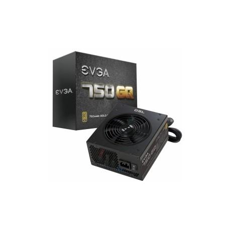 Fuente de Poder EVGA 750 GQ 80 PLUS Gold, 24-pin ATX, 135mm, 750W