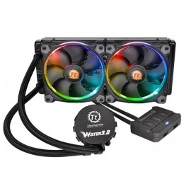 Thermaltake Water 3.0 Riing RGB 240 Enfriamiento Líquido para CPU, 120mm, 800-1500RPM