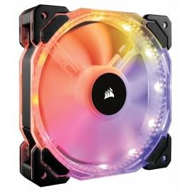 Ventilador Corsair HD120 RGB, 120mm, 800-1725RPM, Negro - 3 Piezas con Contolador