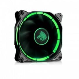 Ventilador Eagle Warrior Halo, LED Verde, 120mm, 1200RPM, Negro