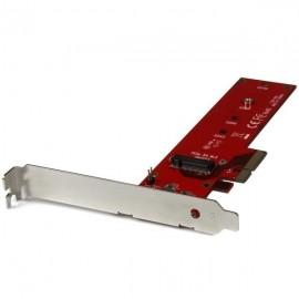 StarTech.com Tarjeta PCI Express x4 M.2 para SSD, Rojo