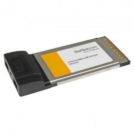 StarTech.com Tarjeta CardBus PCMCIA CBUSB22, Alámbrico, 2x USB 2.0