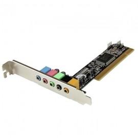 StarTech.com Tarjeta de Sonido PCI con Sonido Envolvente Surround de 5.1 Canales