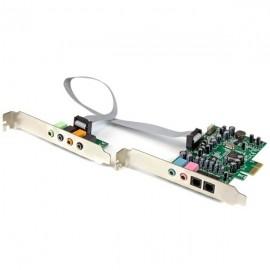StarTech.com Tarjeta de Sonido con Sonido Envolvente, 7.1, 24-bit, PCI Express