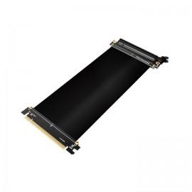 Thermaltake Cable de Extension Riser, PCI-E x16 Gen 3.0 Macho - PCI-E x16 Gen 3.0 Hembra, 35cm, Negro