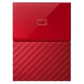 Disco Duro Externo Western Digital My Passport, 2TB, USB 3.0, Rojo