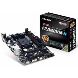 Tarjeta Madre Gigabyte micro ATX GA-F2A68HM-H, S-FM2, AMD A68H, HDMI, USB 2.0 3.0, 64GB DDR3, para AMD