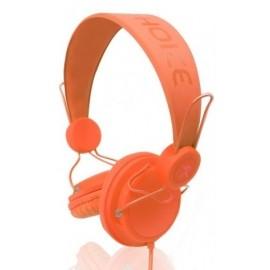 Perfect Choice Solids Audífonos con Micrófono, Alámbrico, 1.2 Metros, Naranja