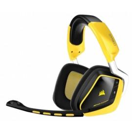 Corsair Audífonos Gamer VOID Wireless Dolby 7.1 RGB, Inalámbrico, Amarillo/Negro