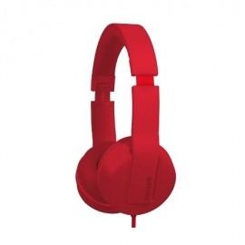 Maxell Audífonos Solid2, Alámbrico, 1.5 Metros, 3.5mm, Rojo