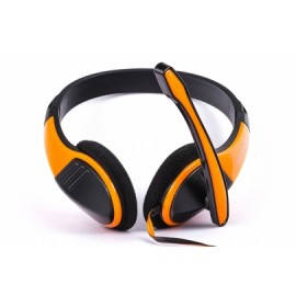 Naceb Audífonos NA-589NA, Alámbrico, 2 Metros, 3.5mm, Naranja