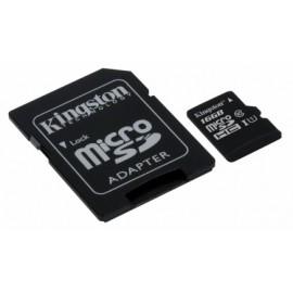 Memoria Flash Kingston, 16GB microSDHC UHS-I Clase 10, con Adaptador SD