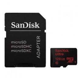 Memoria Flash SanDisk Ultra, 128GB microSDXC UHS-I Clase 10, con Adaptador